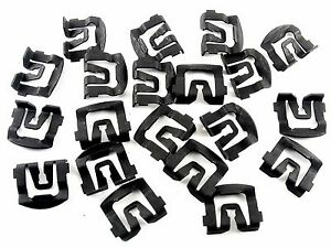 Ford Windshield & Rear Window Trim Molding Clips- 1965-1993- Qty.20- #026