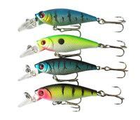 Cool Lot 4pcs Plastic Minnow Fishing Lure Floating Rattles Bass Bait 6.5cm 5g