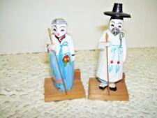 Antique Handcarved Chinese Man and Woman