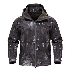 TACVASEN Shark Skin Soft Shell Mens Military Jackets Waterproof Tactical Jacket