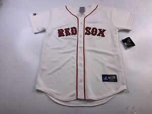 NWT Dustin Pedroia #15 Boston Red Sox MLB Jersey Youth large Majestic Vintage