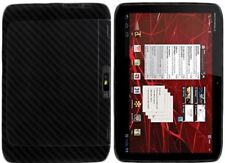Skinomi Carbon Fiber Black Tablet Skin+Screen Protector for Motorola XOOM 2