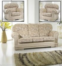 Fabric Floral Furniture Suites with Two Seater Sofa