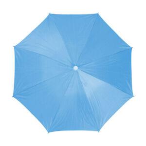 Outdoor Fishing Anti UV Elastic Headband Foldable Umbrella Hat Blue 66cm Dia