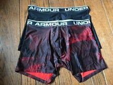 Under Armour 2-Pack Boxer Brief Medium Large XL 2XL Black 6 Inch 1299994 891 NIB