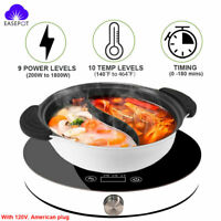 1800W Portable Induction Cooktop Countertop Cooker Burner Stove Hot Plate
