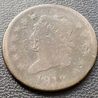 1812 Large Cent Classic Head One Cent 1c Mid Grade   #28973