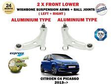 FOR CITROEN C4 PICASSO 2013-> 2 X FRONT ALUMINIUM WISHBONE SUSPENSION ARMS SET