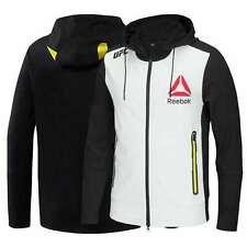 Reebok UFC FK Walkout Blank White Black Hoodie Mens Full Zip UFC Jacket NEW