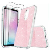 For LG Stylo 5/5x/Stylo 4 Plus Case Hybrid Defender Clear Cover+Screen Protector