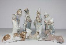 "LLADRO ""CHILDREN'S NATIVITY"" #4670 - #4680 FIGURINES ~ 11 PIECES ~ PERFECT!!! ~"
