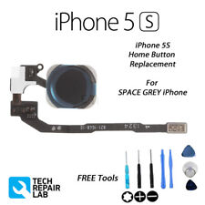 NEW iPhone 5S Complete Home Return Click Button Replacement with Tools - Black