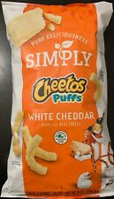 NEW SIMPLY CHEETOS PUFFS WHITE CHEDDAR 8 OZ BAG FREE SHIPPING CHEESE FLAVORED