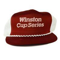 Vintage Winston Cup NASCAR Snapback Hat 80s Foam Mesh Trucker Cap USA