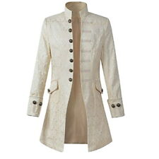 Men's Steampunk Victorian Dress Gothic Brocade Jacket Retro Collar Frock Coats