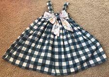 Nolafionnah Girls Handmade Dress Sz 5 Blue Cream Buffalo Check Boutique Etsy NEW