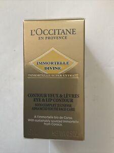 L'Occitane New Product Immortelle Divine Eye & Lip Contour 15ml Sealed