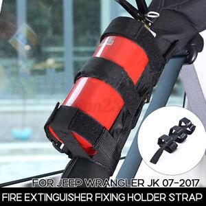 Adjustable Roll Bar Fire Extinguisher Mount Holder For Jeep For Wrang
