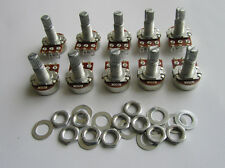 10x B250K Linear Guitar Mini Pots Long Split Shaft 250K Guitar Potentiometers