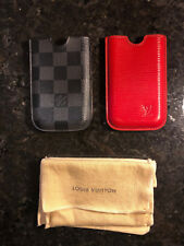 2 Louis Vuitton i Phone 3G 5 S Case Cover Red Epi Leather Damier Graphite
