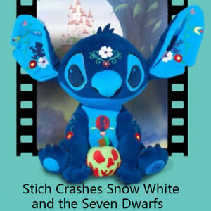 In hand Shanghai Disney 2021 Stitch Crashes Plush August Snow white seven Dwarfs
