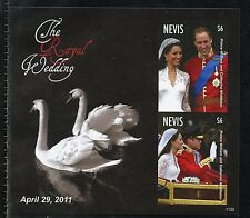 NEVIS  ROYAL WEDDING OF PRINCE WILLIAM & KATE MIDDLETON IMPERF S/S I MINT NH