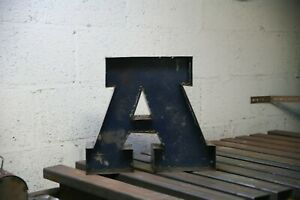rustic metal letters, handmade, heavy patina, steel. 3D