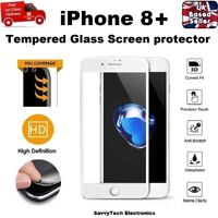 Full Screen Coverage Tempered Glass Screen Protector for iPhone 8 PLUS WHITE