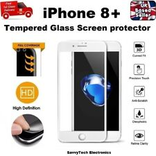 Full Edge to Edge Screen Protection Tempered Glass 9H for iPhone 8 PLUS WHITE