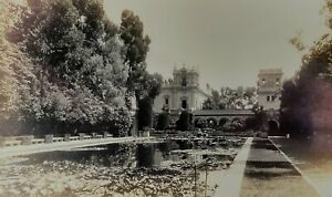 RPPC Photo 1910s Beautiful Palace with Water Gardens in Old Historic Mexico!