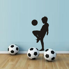 Boy Playing Soccer Wall Stickers Wall Art Decals For Children Nursery Room Decor