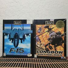 Janes Combat Simulations F-15 and LongBow Anthology Windows 98 & 95 CD-ROM GAME