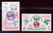 YEMEN 1965 ITU TELECOMMUNICATIONS SET SCOTT 211-12