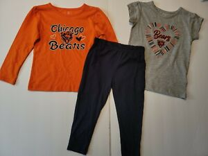 Chicago Bears GIRLS  NFL Team Apparel 3 Piece outfit Set 3T or 12M ,18M NWT