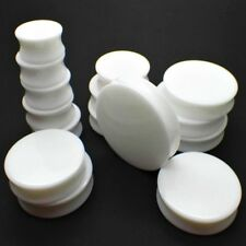 3MM - 50MM EAR PLUG WHITE SADDLE FLARED TUNNEL ACRYLIC FLESH PLUGS STRETCHER NEW