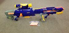 NERF LONGSHOT CS-6 Blue Dart Gun Sniper Rifle #06 Front Blaster Scope - Tested