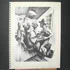 I Got A Gal On Sourwood Mountain  By Thomas Hart Benton 1930's Unframed BookP...