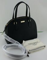 NEW AUTHENTIC KATE SPADE REILEY BLACK HANDBAG WKRU5641 WOMENS DOME SATCHEL TOTE