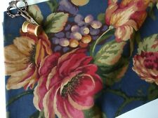 Mill Creek Floral Navy Curtain Drapery Jacquard Home Decor Sewing Fabric BTY
