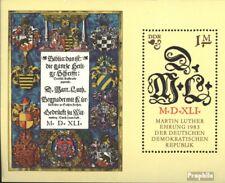 DDR Block73 (kompl.Ausgabe) gestempelt 1983 Martin Luther