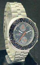 Rare Seiko Diver's 6138-7000 Calculator Slide Rule Chronograph Men's Watch 1975