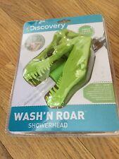 Discovery Dinosaur Easy Install Shower Head T Rex Green Wash N' Roar Bpa Free