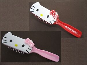 "Hello Kitty 7"" Anti-Static Hair Brush ~ Pink, Red"