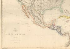 1863  LARGE ANTIQUE MAP - DISPATCH ATLAS- NORTH AMERICA