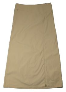 Patagonia Long Continental Camel Beige Skirt 100% Nylon Size 12 - 58625