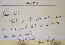 Hand Written & Signed Letter From Anne Reid - Dinnerladies, Coronation Street