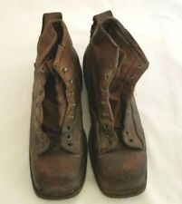 Vtg Wwii Usa Army Ski-Mountaineering Leather Boots Sz 8.5 Modern 10.5 As Is