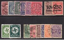 "GERMANY STAMPS #o15//oL14  — ""OFFICIALS""  — 1934 — USED"
