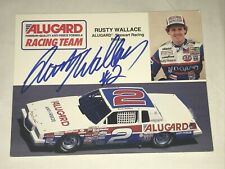 Rusty Wallace 1985 ALUGARD PONTIAC NASCAR CHAMP HALL OF FAME signed 5x7 photo V2
