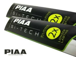 PIAA Si-Tech Front Wiper Blades Set - Silicone, Longer Lasting / 650mm; 400mm